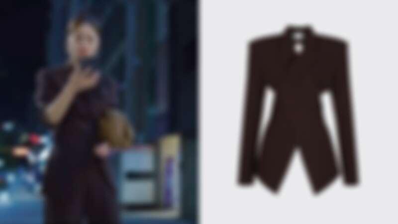 重疊翻領西裝外套,約NT20,000