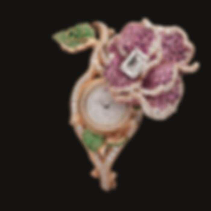 RoseDior 鑽石粉紅藍寶石手鐲腕錶