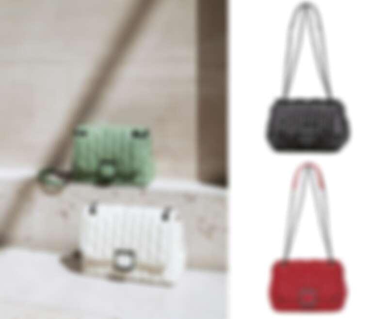 Brioche 系列斜揹袋 (紅色/黑色/翡翠綠 /象牙色) ,售價NT$26,400