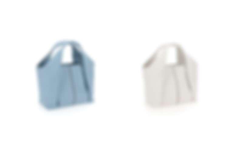 TOD'S Shirt Bag牛奶藍托特肩揹包、Shirt Bag乳白色托特肩揹包,各NT54,500