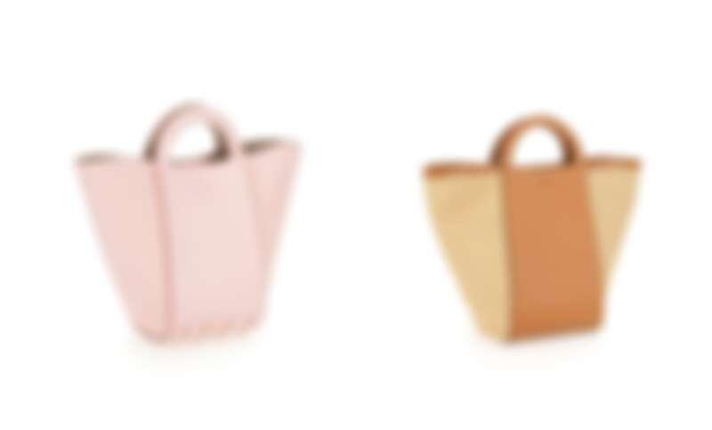 TOD'S 粉紅色兩用豆豆水桶包,NT44,100、草編手皮兩用豆豆水桶包,NT47,100
