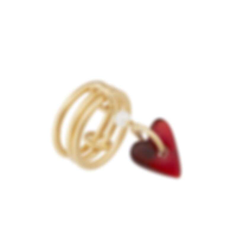 Dior Poesy 愛心三環戒指 ,NT15,000