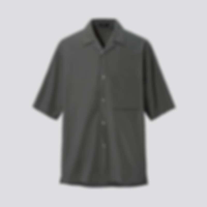 男裝 SUPIMA COTTON寬版開領襯衫(短袖)_NT$1290
