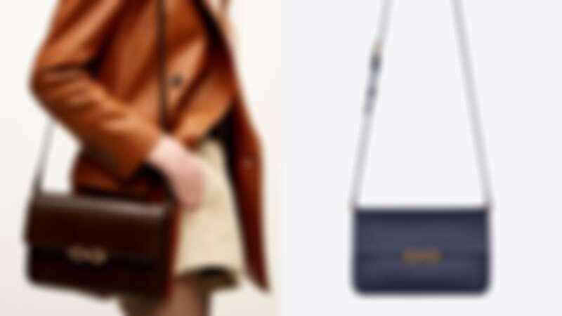 Maillon古銅色鎖鏈標誌光滑小牛皮肩背包,NT79,600