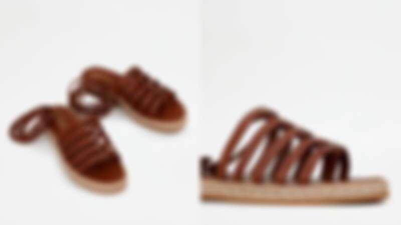 皮革羅馬涼鞋,約NT18,300