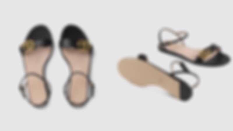 皮革雙G凉鞋,約NT23,000
