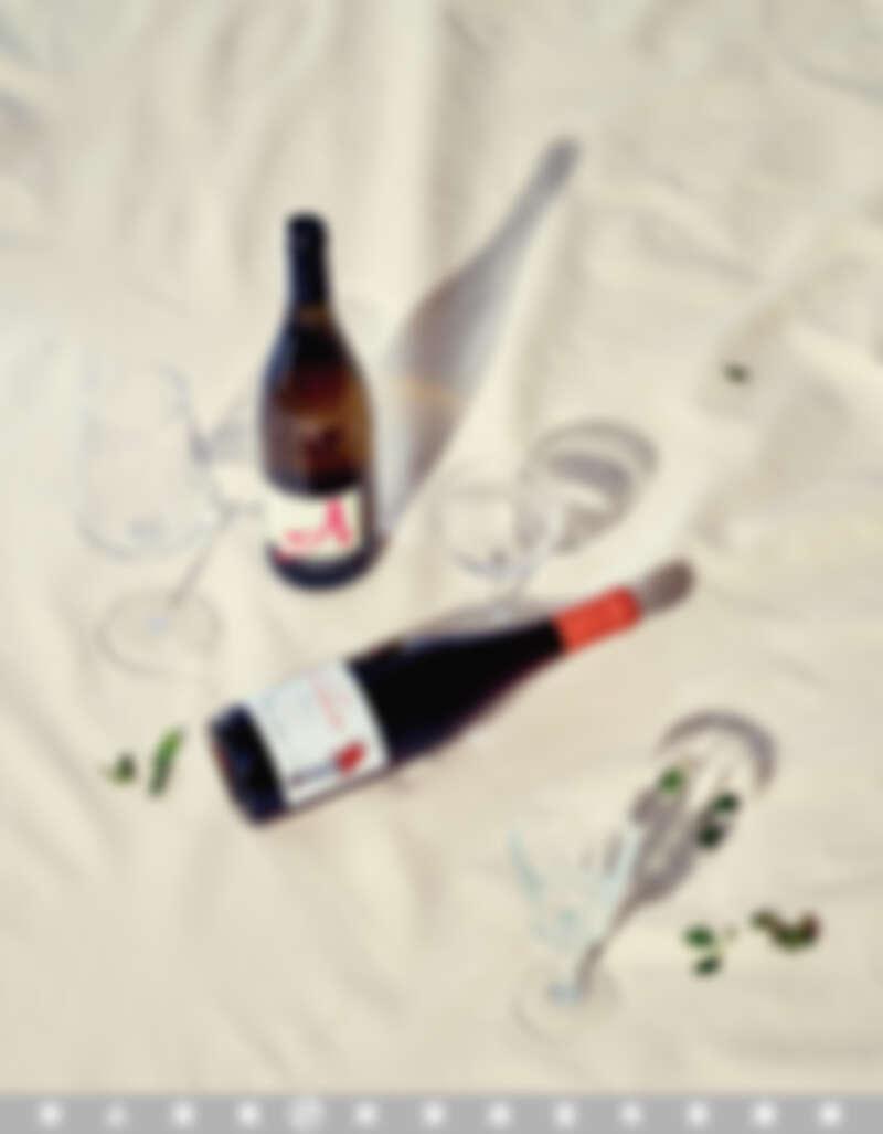 (上)VDF L. d'Ange 2016, Domaine Alexandre Bain 亞歷山大班恩酒莊天使。(下)Anatole Pinot noir IGP 2019, Domaine Fanny Sabre 凡妮酒莊布根地法式滾球女孩。