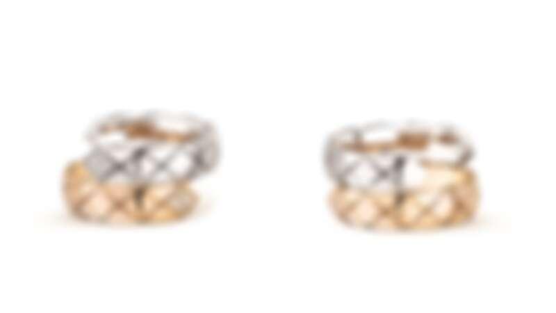 COCO CRUSH TOI ET MOI 戒指 大型款 _ 18K 白金與BEIGE 米色金 _ 建議售價NTD 150,000元