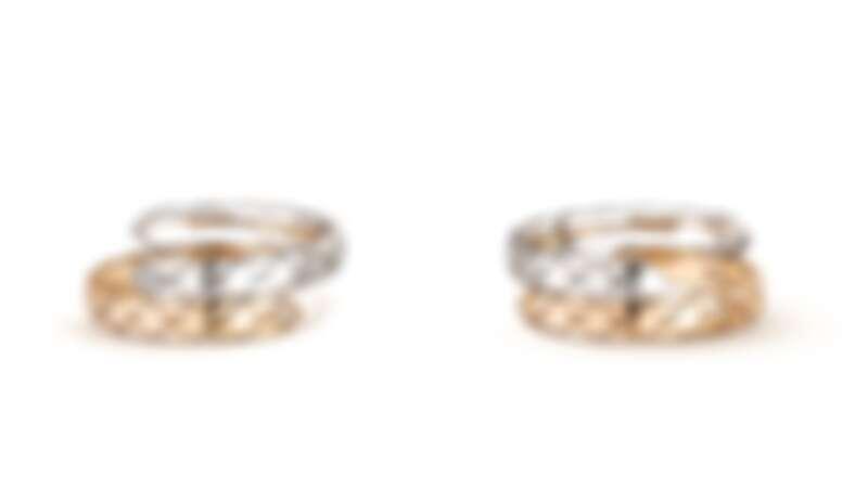 COCO CRUSH TOI ET MOI 戒指 小型款 _ 18K 白金與BEIGE 米色金 _ 建議售價NTD 98,000元