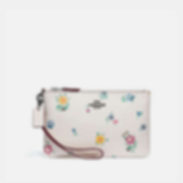 Coach 狂野花卉印花小型手腕包,NT4,500