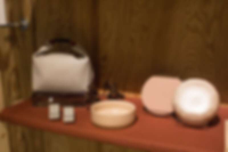 HAVEN by nest 現場展示沙粉色組合實品。