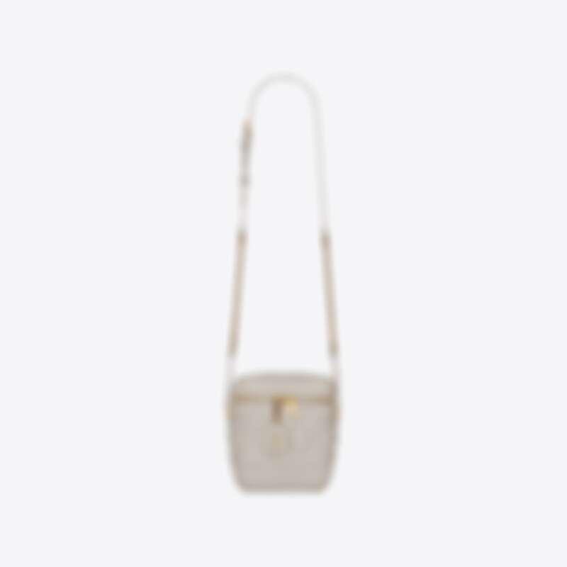 YSL粒面壓印皮革Vanity手袋,約NT61,000