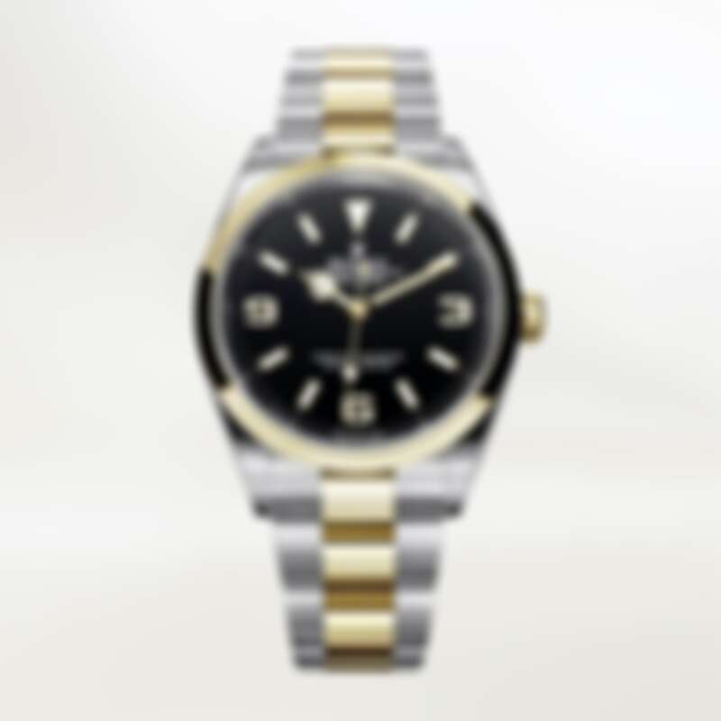 Rolex Explorer 蠔式鋼與18K黃金 蠔式三格實心鏈節 定價NT359,000