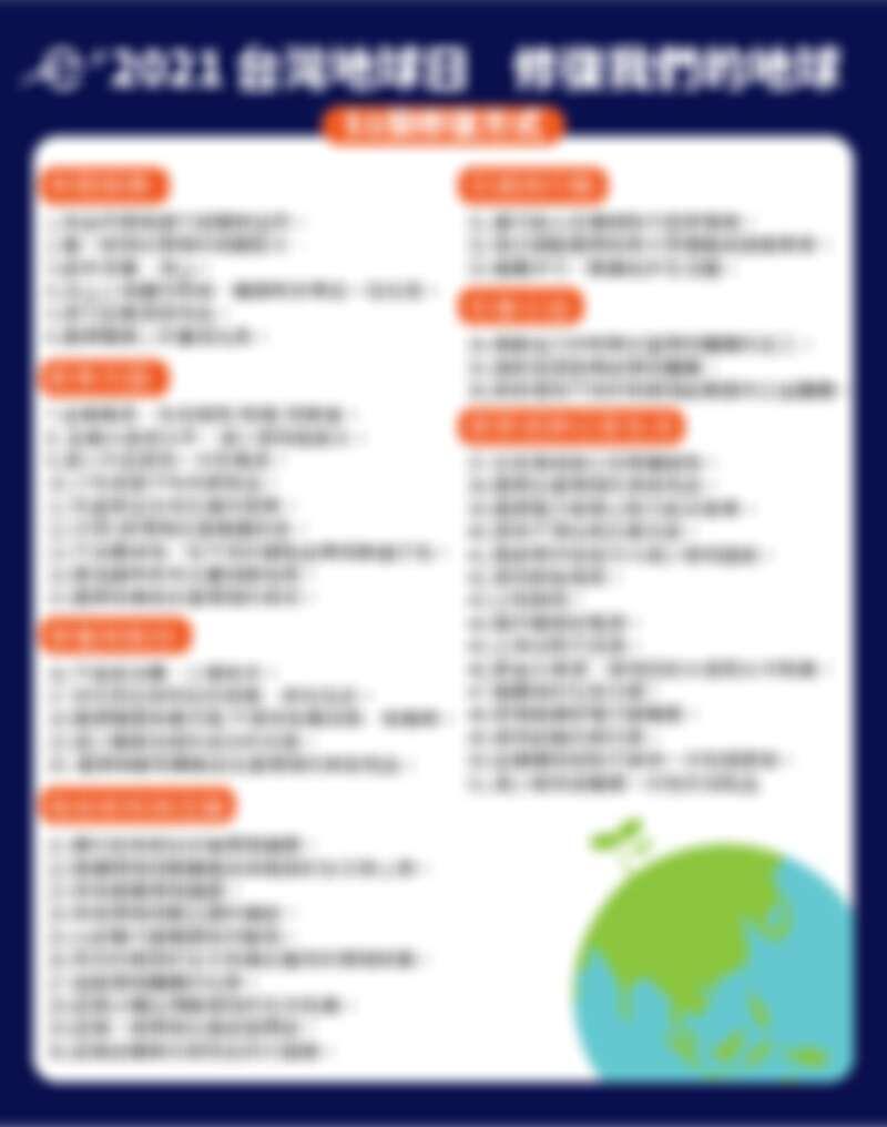 ▲日常生活就能「修復地球」的51件事。(圖 / 翻攝自台灣環境資訊協會)