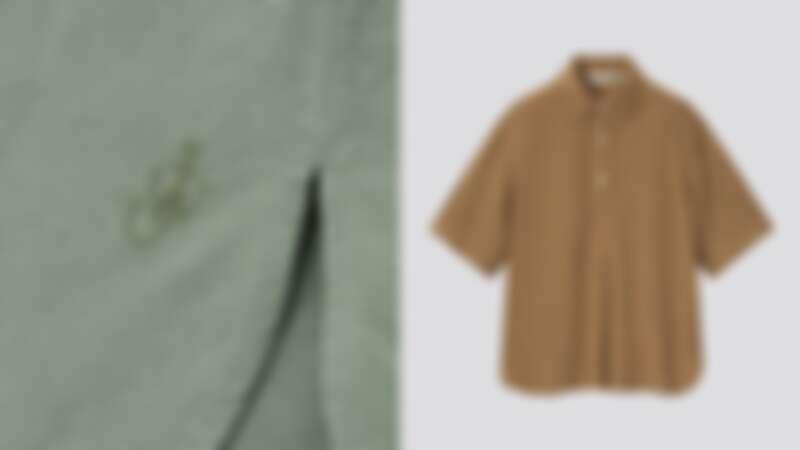 JWA亞麻混紡半開襟襯衫(短袖)