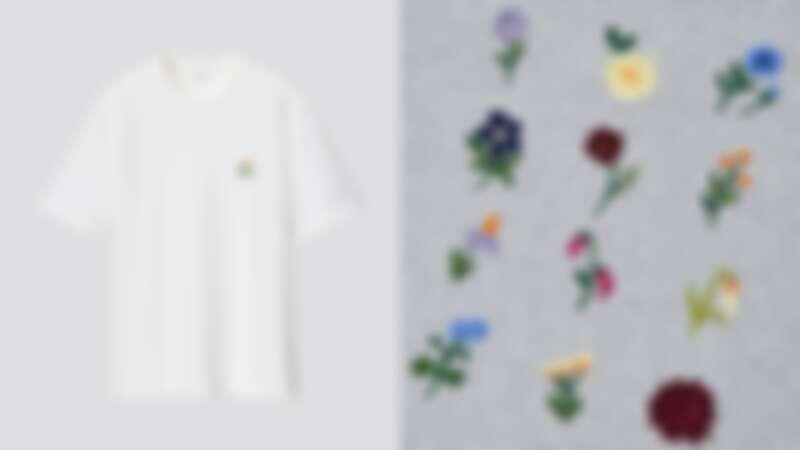 JWA刺繡設計圓領T恤(短袖)