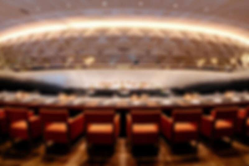 Ukai-tei Kaohsiung 主打劇場式的用餐體驗。