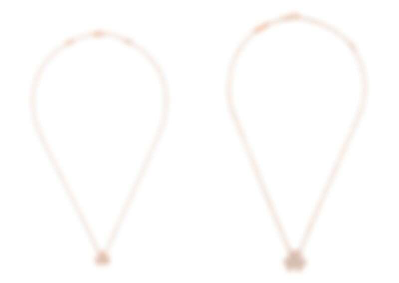 (左)Frivole吊墜,迷你款式,玫瑰金、鑽石,建議售價約NT123,000、(右)Frivole吊墜,小型款式,玫瑰金、鑽石,建議售價約NT267,000
