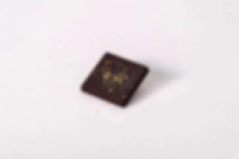 得獎的作品—烏魚子巧克力。