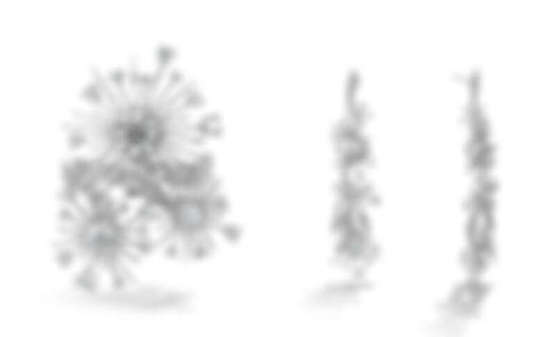Aerial Dandelion白K金鑽石戒指、Aerial Dandelion白K金鑽石耳環