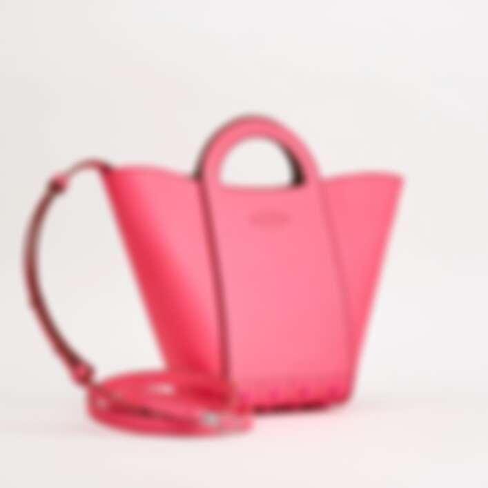 Tod's 螢光粉紅手提豆豆水桶包,NT44,100