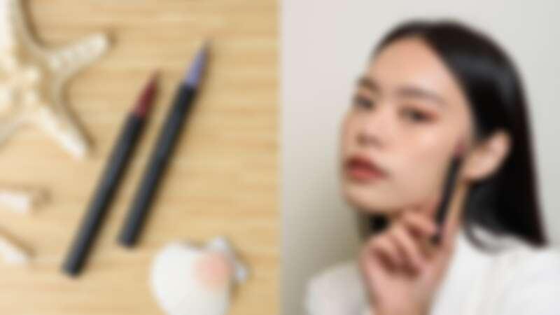 晶采艷色眼線筆,又:妝容示範