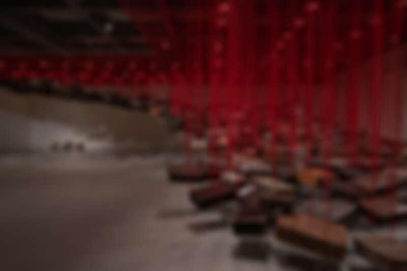 塩田千春,《集聚—找尋目的地》,2014/2021
