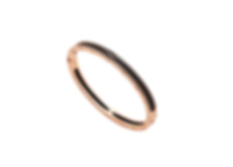 BVLGARI B.zero1系列玫瑰金啞光黑陶瓷手環_參考售價:約新台幣200,100元 (Size:54 – 60 cm)