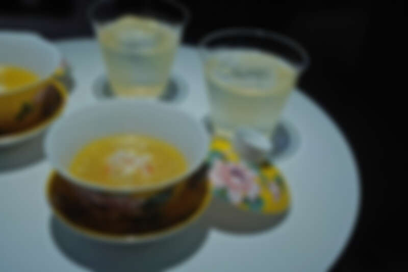 大三元招牌菜「金湯蛋白蟹」為原型的湯品。
