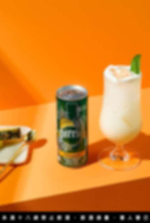 用鳳梨風味的沛綠雅天然氣泡水製作的可樂達 Colada 雞尾酒。