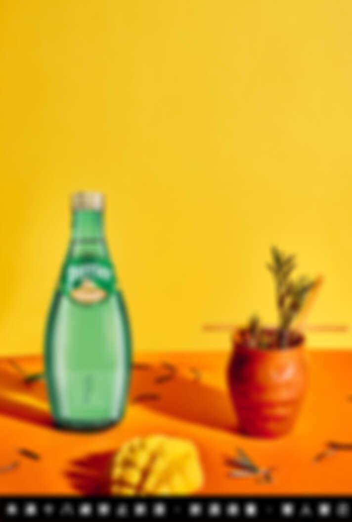 沛綠雅生薑萊姆風味氣泡水,是市面少見創新口味。