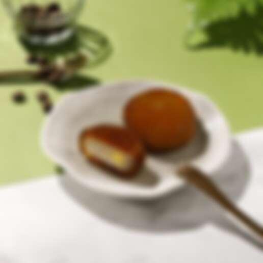 「珍珠奶茶布丁星蕨餅」