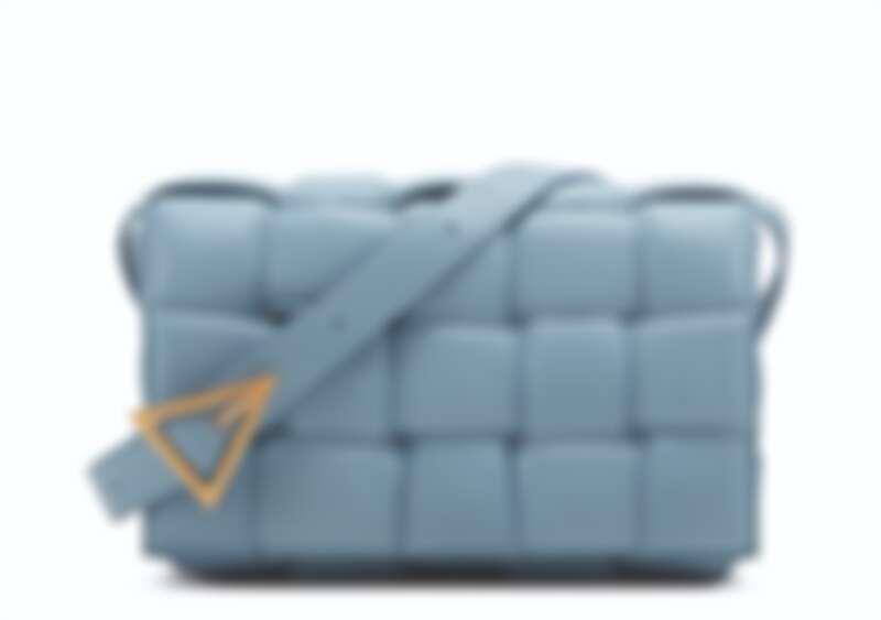 Bottega Veneta 編織肩背包冰藍色,NT94,100