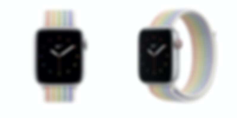 Apple X Nike Apple Watch彩虹錶帶,售價NT$1,600
