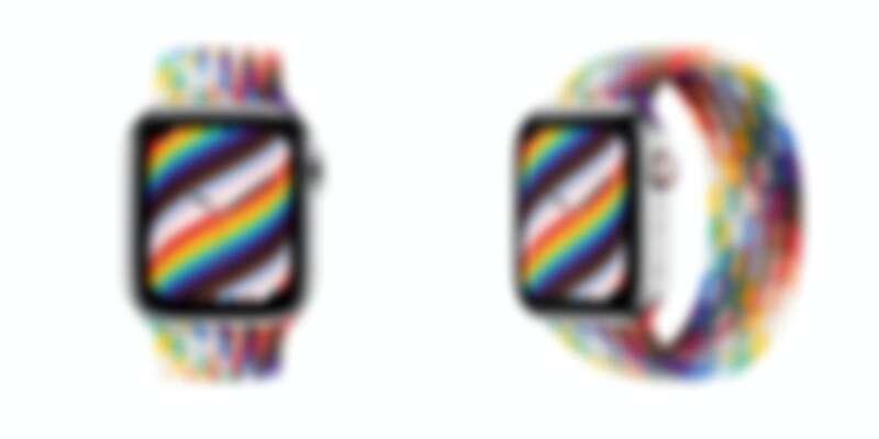 Apple 彩虹版編織單圈錶環,售價NT$3,100