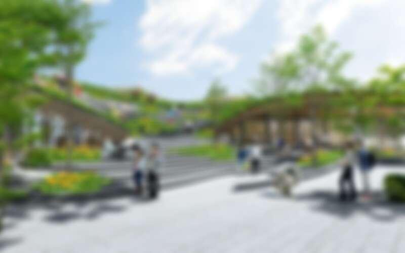 由隈研吾設計的勤美術館,預計於2023年開幕。場館空間示意。(圖片提供:隈研吾建築都市設計事務所)