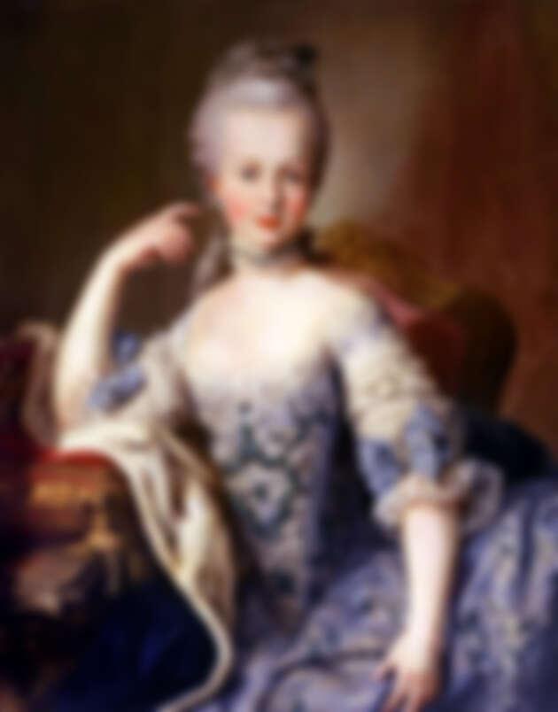 《瑪麗‧安東妮肖像畫》,相信為 Martin van Meytens 作品,約 1787-1788 年,奧地利維也納美泉宮