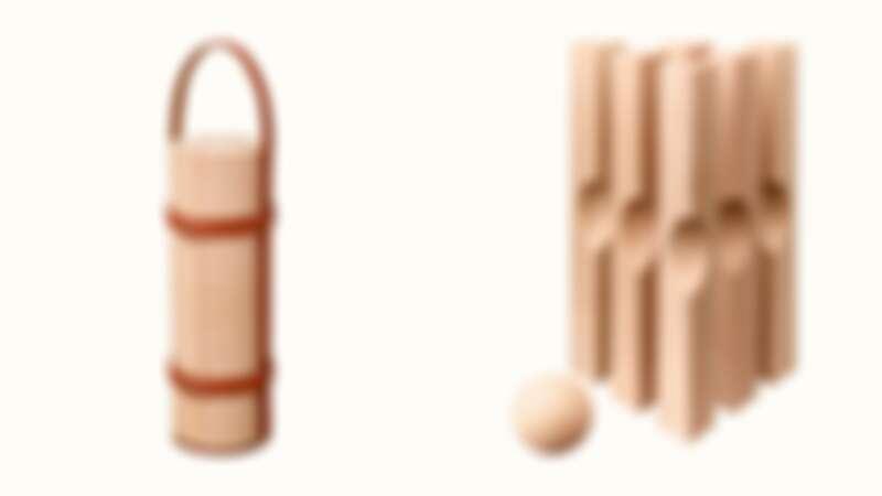 Hermés木製保齡球組,售價2,425美元
