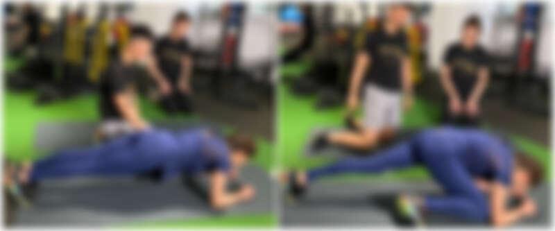 棒式+單腳提腿訓練