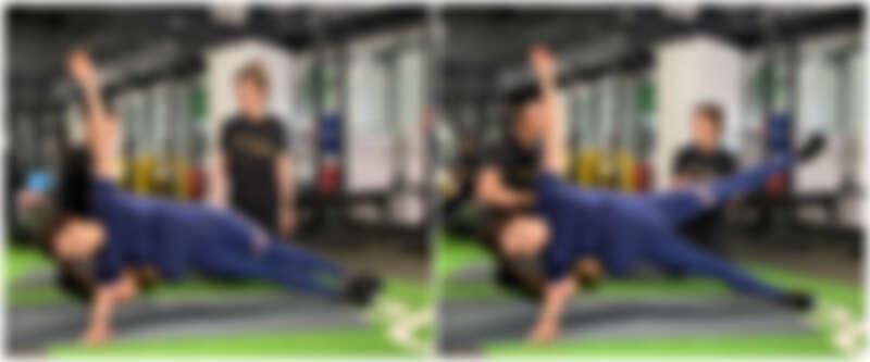 側棒式抬腿訓練
