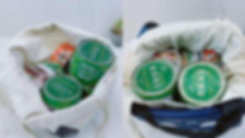 ▲建議使用金屬罐頭、雙層袋子,並盡量塞滿袋子內部空間。