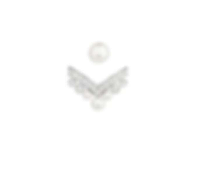Joséphine Aigrette 18K白金鑲鑽耳環,鑲嵌 Akoya 珍珠和明亮式切割鑽石