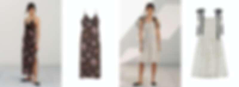 碎花洋裝再加上蕾絲、緞面綁帶的設計細節,讓浪漫氣息更加成。