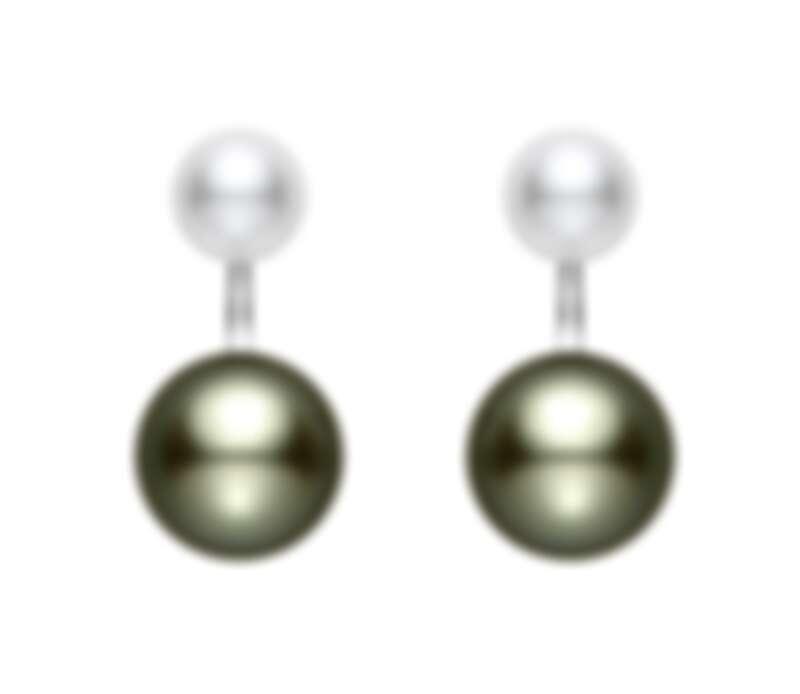 全新上市-MIKIMOTO黑白珍珠耳環 價格電洽