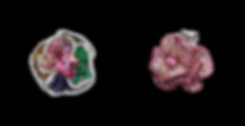2021 Rose Dior高級珠寶系列。戒指是 Victoire de Castellane 最早奠定個人與 Dior 珠寶風格的品項之一,搶眼的視覺比例與大主石,如裹上糖衣的鮮豔色彩,是視覺的豐盛體驗。