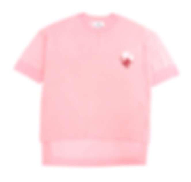 CALVIN KLEIN 粉色有機棉上衣,NT$7,690。