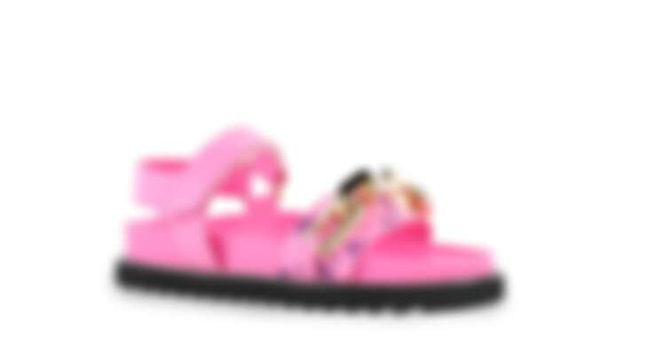 Louis Vuitton Monogram 粉色印花涼鞋,價格店洽。