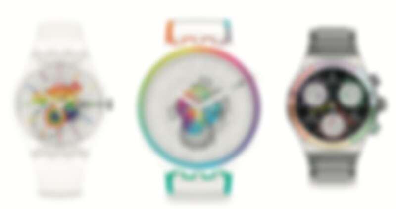 Swatch 2021 Pride系列,售價NT$3,150/NT$3,950/NT$7,900