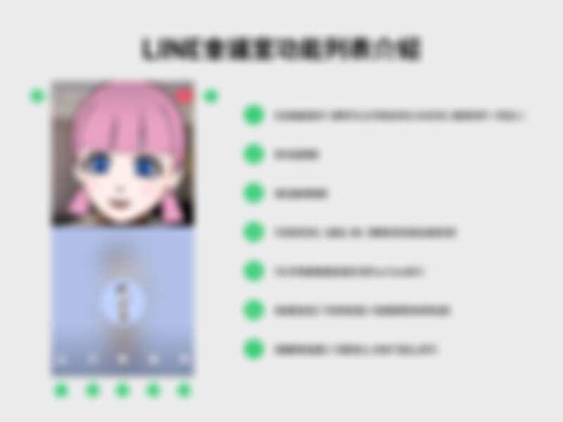 「LINE會議室」功能列表