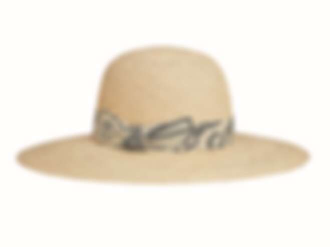 Hermès Carrousel系列羅緞飾帶巴拿馬草帽,NT$ 21,800。